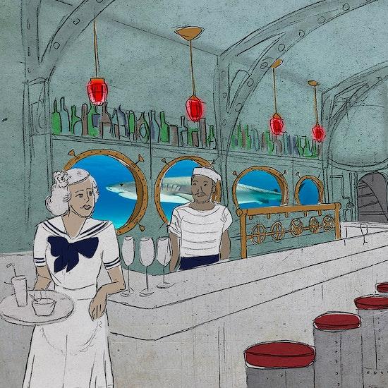 A Cold War Submarine-themed Tiki Bar: The Acey-Deucey Club