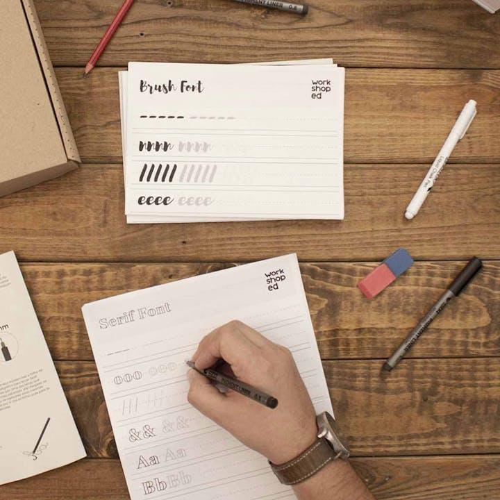 Aprende a arte da caligrafia com esta Workshop Box