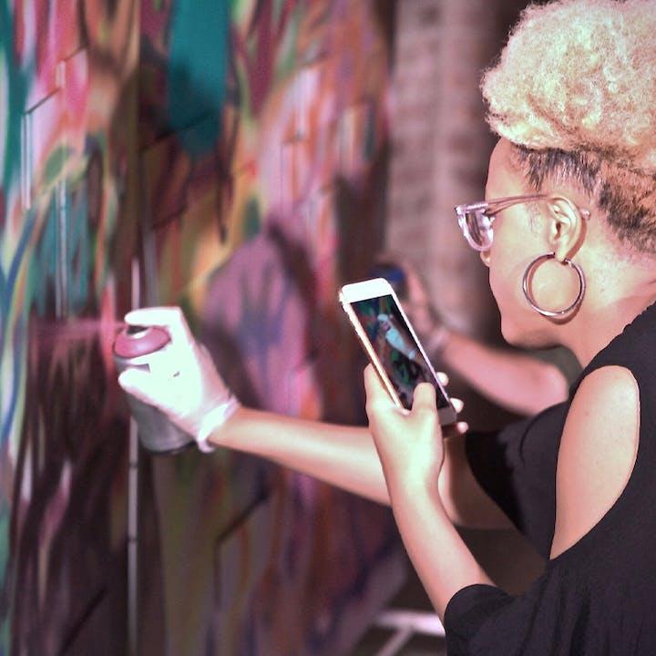 Spray Paint 'n' Sip Urban Art Workshop