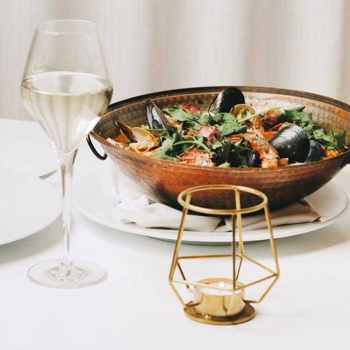 Glass Terrace: menu de almoço em restaurante premiado