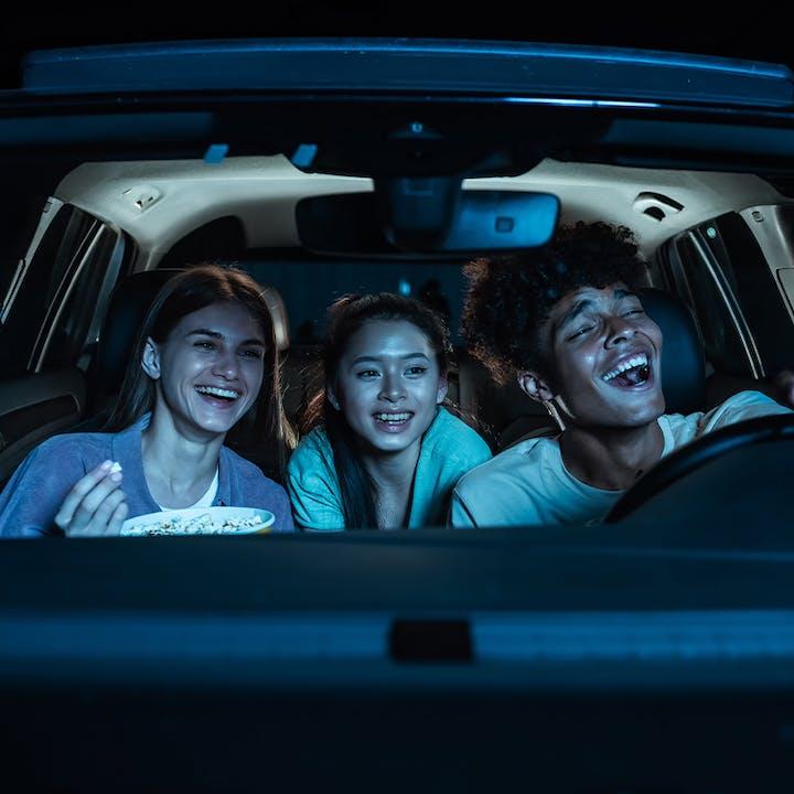 Blue Starlite Mueller Drive-In Cinema