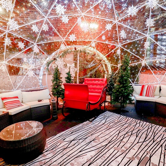 Rooftop Winter Igloos at Joy District