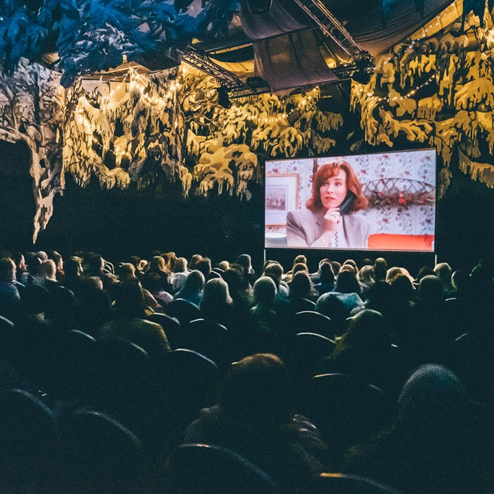 Cinema in the Snow by Pop-Up Screens