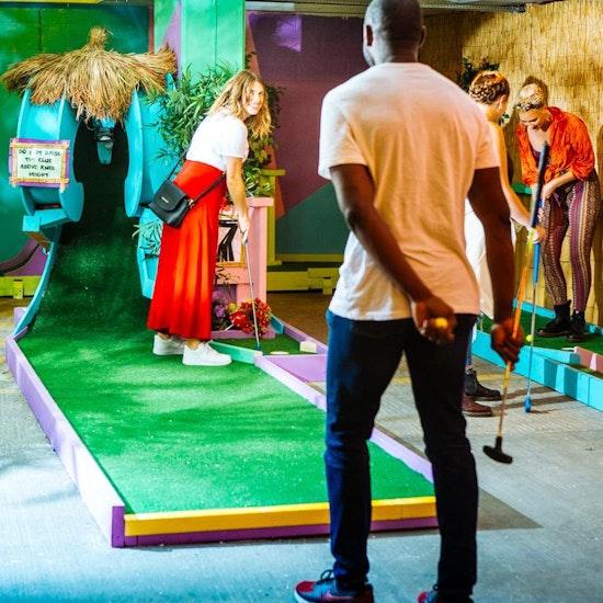 Plonk Crazy Golf at Peckham Levels