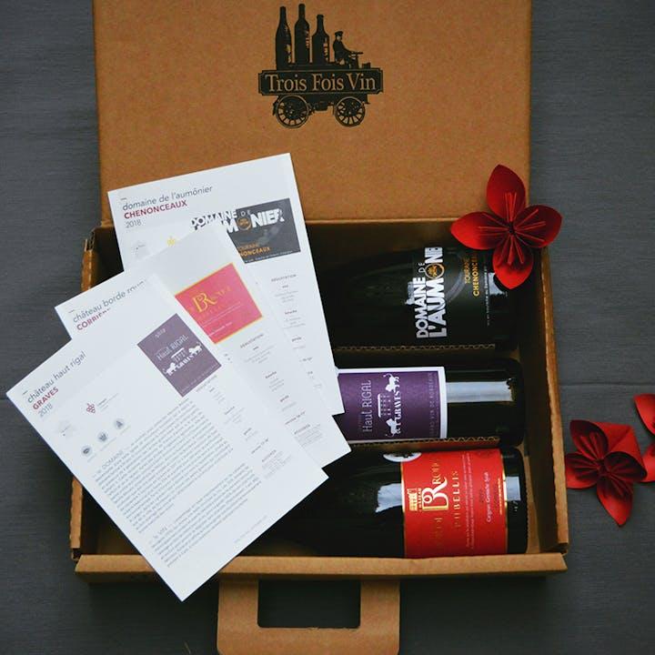 Box de 2 à 6 grands vins par des petits producteurs