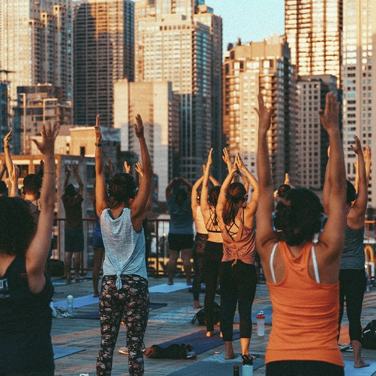 Silent Disco Yoga at Ace Hotel Rooftop