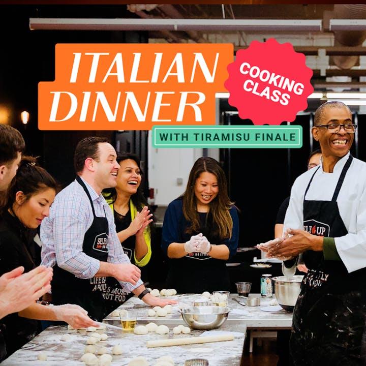 Italian Dinner with Tiramisu Finale Cooking Class
